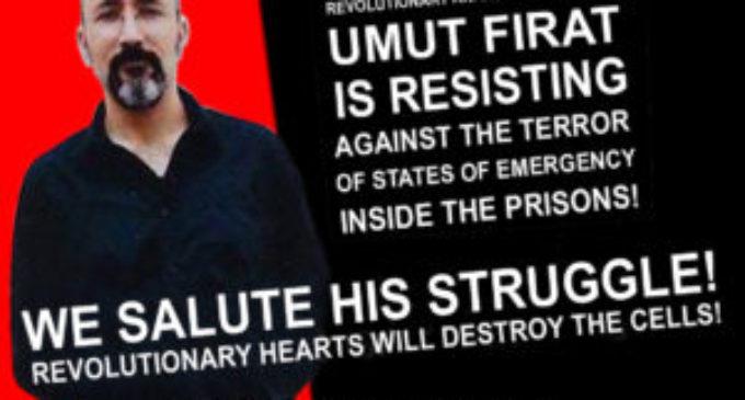 Umut Fırat Süvarioğulları, il rivoluzionario anarchico in carcere, ha messo fine allo sciopero della fame dopo la sua vittoria