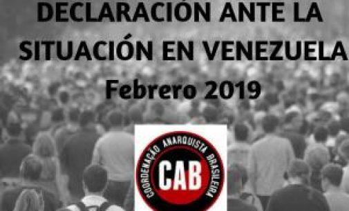 La FAU sulla situazione venezuelana