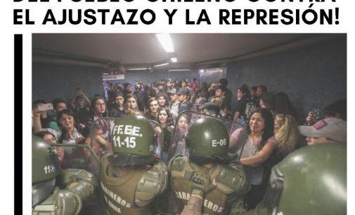 Solidarietà con il popolo cileno, contro la stretta repressiva diPiñera!