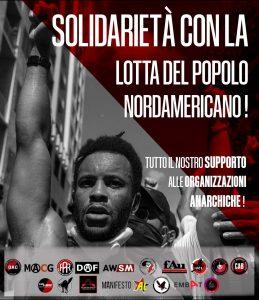 Solidarietà lotta popolo nordamericano