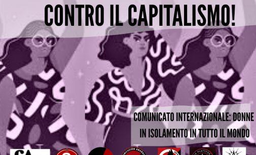 Donne in isolamento in tutto il mondo, siamo in prima linea contro il capitalismo